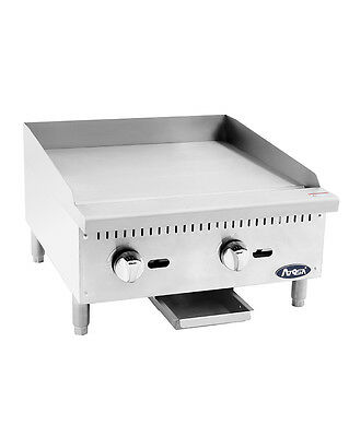 $660 • Buy Atosa USA ATMG-24 Heavy Duty 24  Griddle Grill Nat Gas LP Flat Stainless Steel