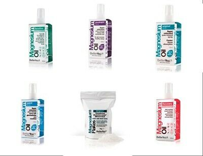 BetterYou Magnesium Oil Spray Or Magnesium Flakes -  You Choose - FREE P&P • 12.95£