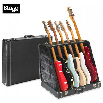 $ CDN207.60 • Buy STAGG UNIVERSAL MULTI GUITAR STAND CASE - HOLDS 6 ELECTRIC Or 3 ACOUSTIC GUITARS