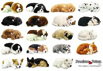 Perfect Petzzz® Realistic Huggable Breathing Dogs Cats Sleeping Christmas Toy • 31.67£