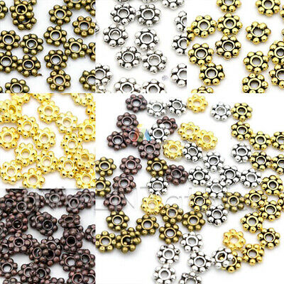 £2.45 • Buy TINY DAISY Spacer 4mm Beads Jewellery Making FINDINGS Assorted Colours _333