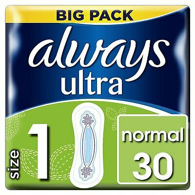 £5.96 • Buy Always Ultra Normal Sanitary Towels Pads Size 1 Women Super Absorbent Pack Of 30