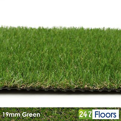 £39.99 • Buy Artificial Grass, Quality Astro Turf, Cheap, Realistic Natural 19mm Green