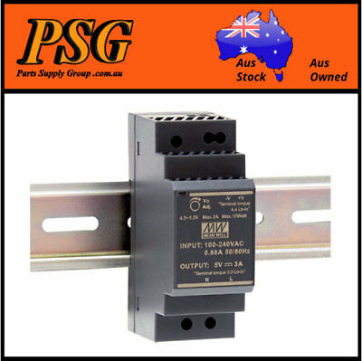 AU35 • Buy HDR-30-24 HDR-30-5 HDR-30-12 HDR-30-15 HDR-30-48 MEAN WELL DIN Rail Power Supply