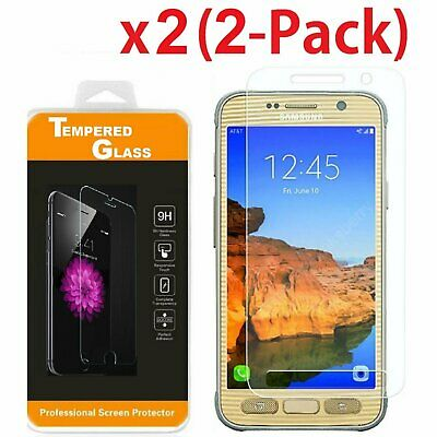$ CDN4.84 • Buy 2-PACK Premium Tempered Glass Screen Protector Film For Samsung Galaxy S7 Active