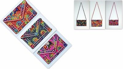 £8.99 • Buy Women Purse Hand Cross Sling Bag Clutch Indian Embroidery Ethnic Floral Elephant