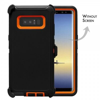 $ CDN12.75 • Buy Black Orange For Samsung Galaxy Note 8 Defender Rugged Case Cover With Clip