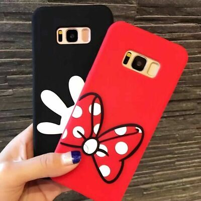 $ CDN11.93 • Buy For Samsung Galaxy S8 -Soft Silicone Rubber Phone Case Cover Minnie Mickey Hands