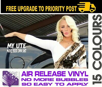 AU6.90 • Buy UTE 4x4 Funny 4wd Straya Diesel Bns Decal Sticker MOVE YOUR OWN SHIT