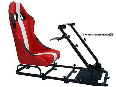 Car Gaming Racing Simulator Bucket Seat Gift Xmas For PC PS4 PS5 XBox Red White • 286.90£