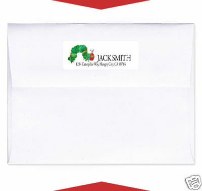 30 The Very Hungry Caterpillar Personalized Invitation Return Address Labels • 4.44£