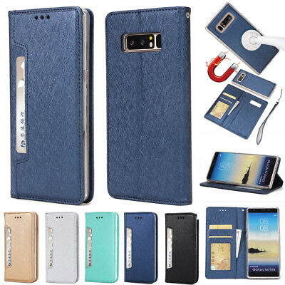 $ CDN6.47 • Buy For GALAXY Note 8 Leather Wallet Case Credit Card Slots Cash Holder Cover Bags
