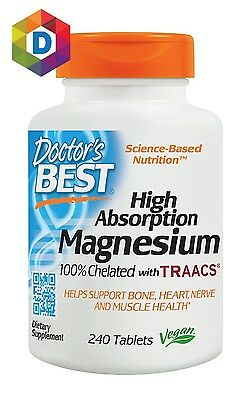 £16.24 • Buy Doctor's Best High Absorption Magnesium Glycinate Lysinate Chelated 240 Tablets