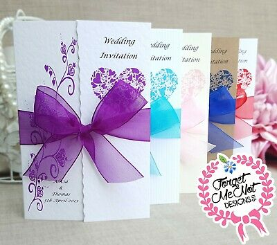 £1.50 • Buy Wedding Invitations - Day Or Evening -  Personalised Gatefold -with Envelopes