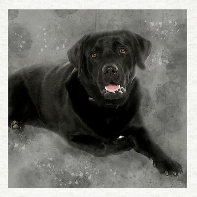 Dog - Black Labrador Fabric Craft Panels In 100% Cotton Or Polyester  • 1.95£