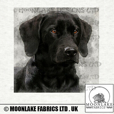 Dog - Black Labrador Fabric Craft Panels In 100% Cotton Or Polyester • 4.95£