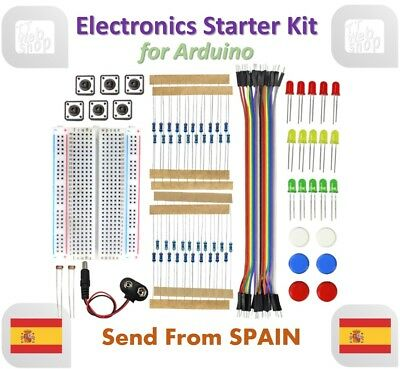 Electronics Starter Kit For Arduino UNO R3 Breadboard LED Jumper Wire Button • 8.25£