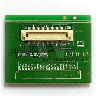 LVDS To TTL Signal Converter Board Adapter 60Pin 0.6mm For LCD Screen HSD150MX41 • 7.96$