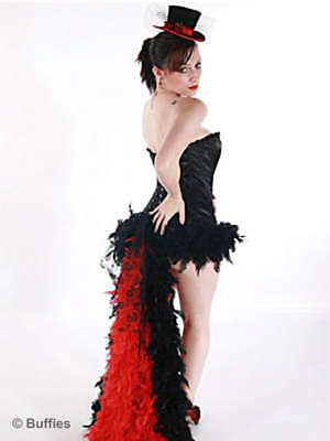 NEW! Ladies Feather Tail Gothic Steampunk Burlesque Dancer Skirt Size 8-18 • 20£