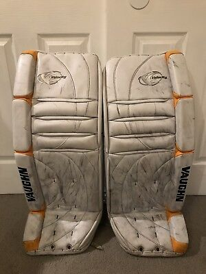 $399.99 • Buy Vaughn Velocity V2 7000 Goalie Leg Pads 32  Inch + 2  Pro Stock Hockey NHL Pads!