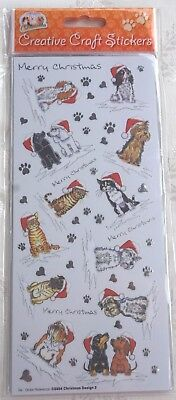 £2.35 • Buy Xmas Craft Sticker Peel Offs Cat And Dog Merry Christmas Stickers