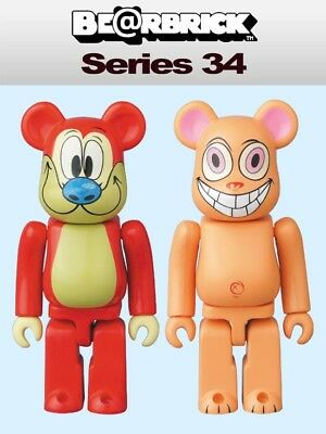 $19.99 • Buy Medicom 100% Be@rbrick Series 34 Ren & Stimpy (Set Of 2) Bearbrick [In Stock] S3