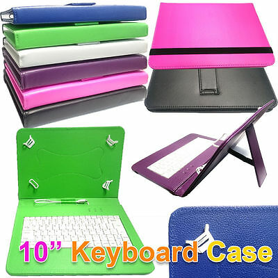 10  PU Lether Stand Case Built-In Keyboard For Hannspree Hannspad Hsg1316 Tablet • 9.40£