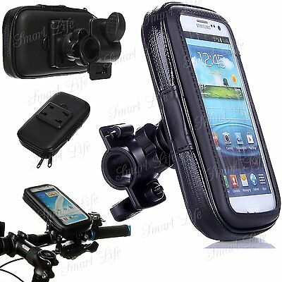AU17.34 • Buy Mobile Bicycle Motor Bike Handle Bar Holder Rain Case Cover For Mobile Phone's
