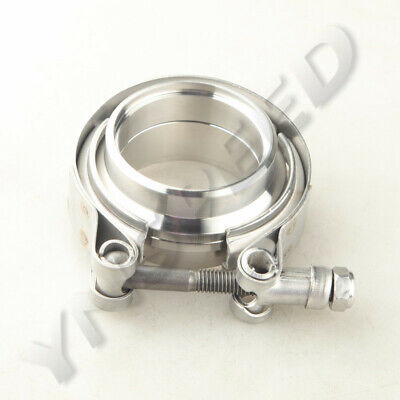 $ CDN24.78 • Buy 2  Self Aligning V-Band Clamp Stainless Steel Flange Kit For Turbo Downpipe