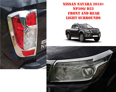 For Nissan Navara NP300 16 On Styling Accessories Front N Rear Light CHROME • 78.50£