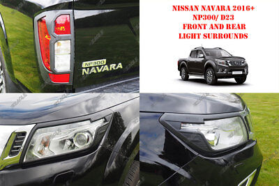 For Nissan Navara NP300 16 On Styling Accessories Front N Rear Light BLACK • 69£