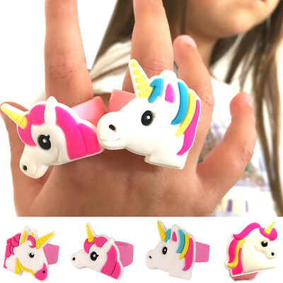 £1.99 • Buy 2 X UNICORN RINGS SILICON RUBBER JEWEL TOY PARTY BAG CHRISTMAS STOCKING FILLERS