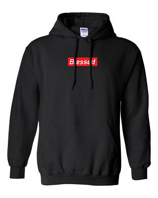 $23.99 • Buy Blessed Red Box Logo Custom Gildan Hooded Sweater Hoodie Brand New