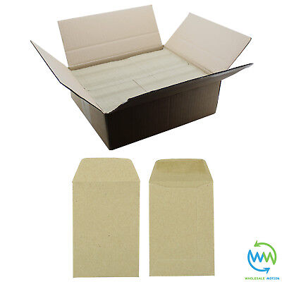 Small Brown Envelopes 98 X 67mm 80gsm For Dinner Money Wages Coin Beads & Seeds • 2.15£