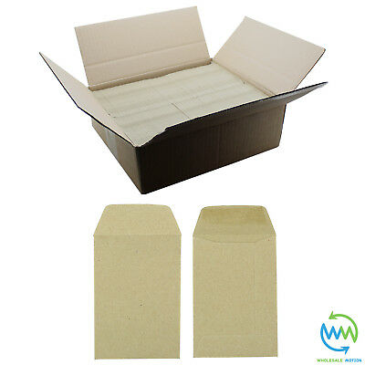 £0.99 • Buy Small Brown Envelopes 98 X 67mm 80gsm For Dinner Money Wages Coin Beads & Seeds