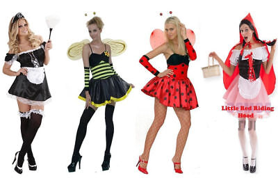 £8.90 • Buy Ladies Teen Girl Women Costume Halloween Fancy Dress Up Sexy Party Adult Outfit