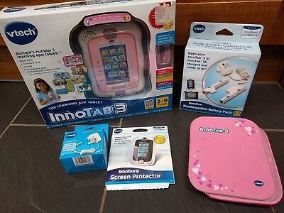 Vtech Innotab 3 Tablet Pink Rechargeable Battery Pack Folio Case 7.5v Adapter  • 44£