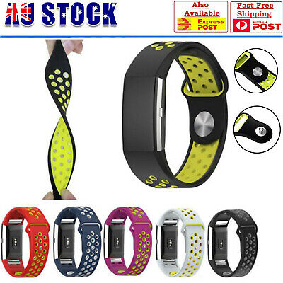 AU11.95 • Buy For Fitbit Charge 2 Soft Silicone Replacement Spare Sport Band Bracelet Strap