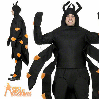 Adult Scary Spider Costume Halloween Insect Fancy Dress Outfit Mens Womens • 33.99£