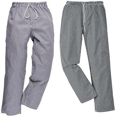 Portwest Bromley Elastic Waist Chef Trousers | C079 • 19.95£