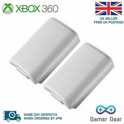 £2.69 • Buy  2x Battery Back Cover Case Shell Pack For Xbox 360 Controller - White