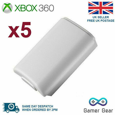 £4.45 • Buy Xbox 360 Controller Battery Back Cover Case Shell - White 5 Pack