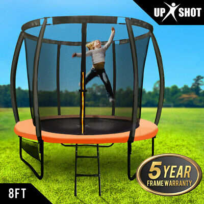 AU289 • Buy 【EXTRA15%OFF】8ft Round Trampoline Enclosure Safety Net Mat Spring Pad Ladder