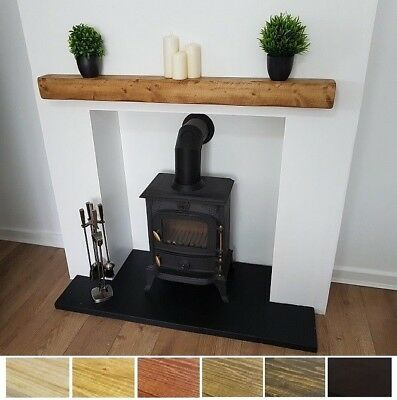 Mantel Shelf Wooden Beam 4x4 Pine Shelves Rustic Solid Mantle Beams • 65£