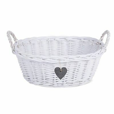Eared White Matte Wicker Basket  Retail Display Christmas Gift Hampers • 10.44£