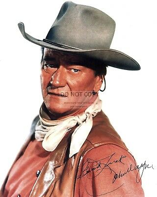 $7.54 • Buy JOHN WAYNE LEGENDARY ACTOR W/  *REPRINT* AUTOGRAPH 8X10 PUBLICITY PHOTO (FB-514)