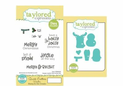 Taylored Expressions Cling Stamp(6) & Die(6) Set  QUICK CRITTERS WINTER ~TEPS228 • 20.69$