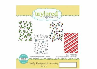 Taylored Expressions Cling Stamp Set ~ MATCHY BACKGROUND ~ HOLIDAY ~TEMS116 • 16.19$