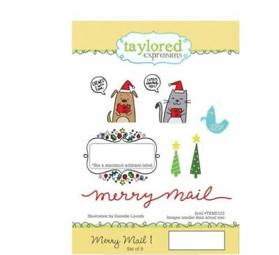 Taylored Expressions Cling Stamp Set ~ MERRY MAIL 1 ~ Envelope Decor ~TEMD122 • 18.89$