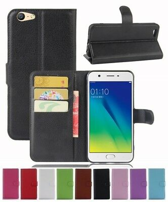AU5.89 • Buy Wallet Leather Flip Card Holder Case Cover Pouch For Oppo A57 Genuine AuSeller